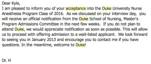 acceptance email