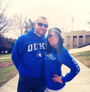 Our first Duke basketball game