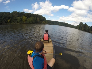 This was the last weekend to rent canoes at Umstead park. It was a beautiful fall day!