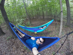 We bought ENO hammocks and it was perfect to relax in after canoeing.