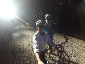 We went trailblazing! We took our bikes and hit the trails at Umstead!