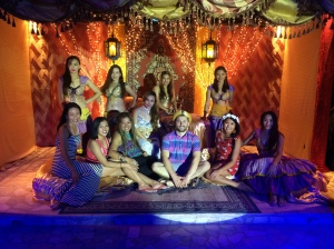 With the bellydancers at Arabian Night in the resort