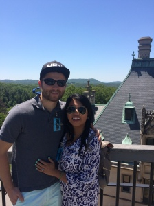 On top of the Biltmore house