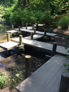 zig-zag bridge to keep the spirits away